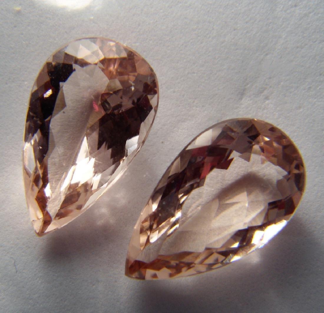 Morganite pair - 5.28 ct - 4
