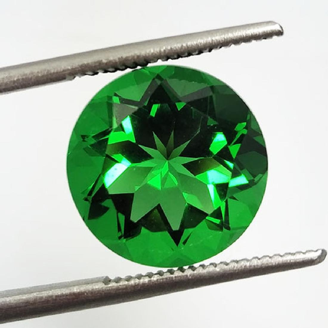 5.60CTS-SUPER-TOP-LUSTER-GREEN-NATURAL-MOLDAVITE-ROUND - 2