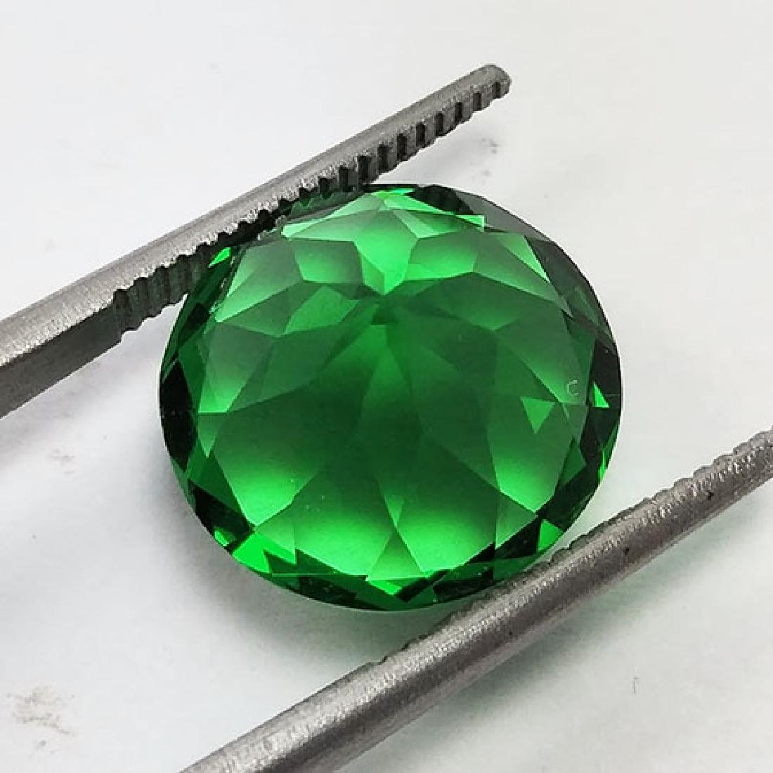 5.60CTS-SUPER-TOP-LUSTER-GREEN-NATURAL-MOLDAVITE-ROUND - 4