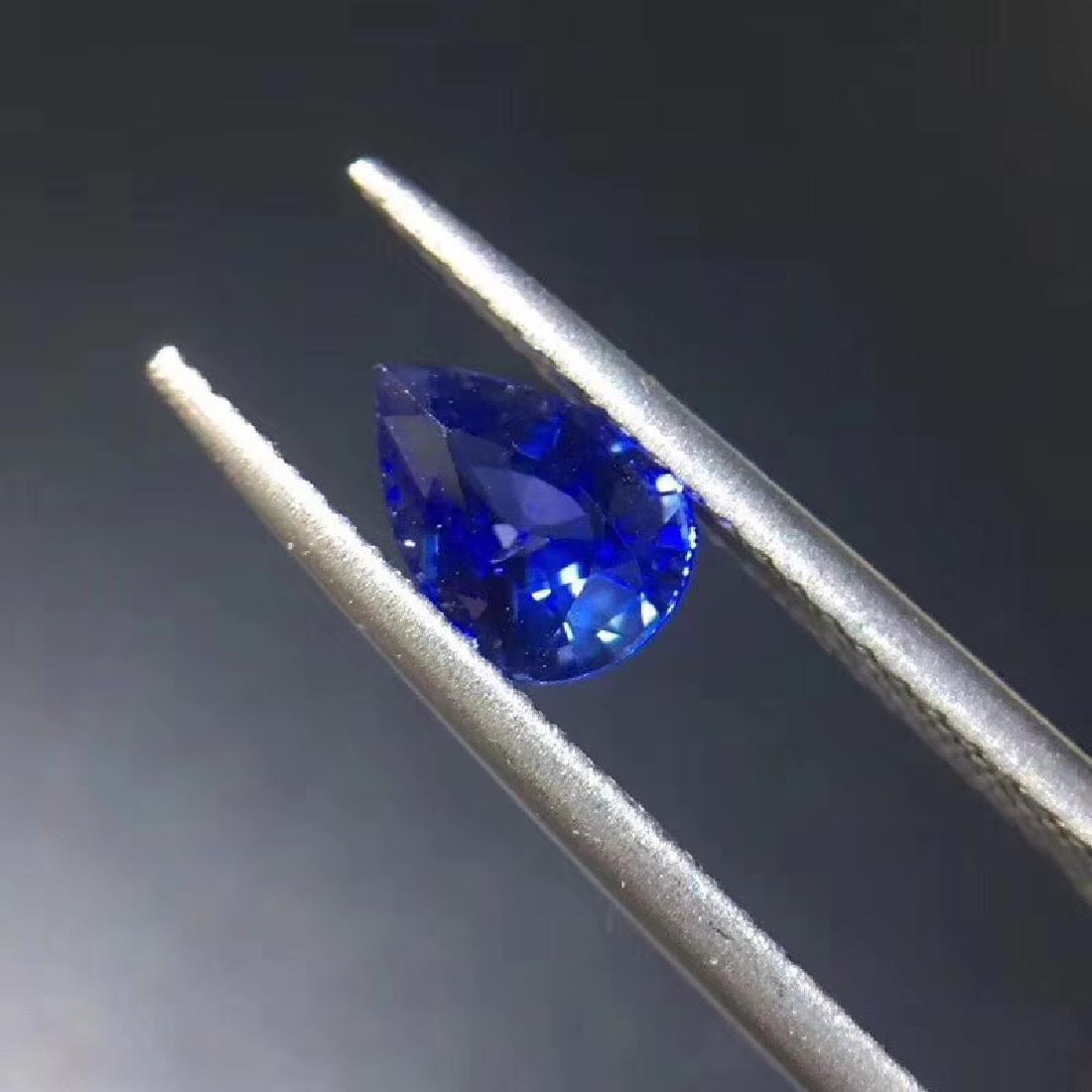 0.99 ct Sapphire 5.2*7.2*3.5 mm Pear Cut - 2