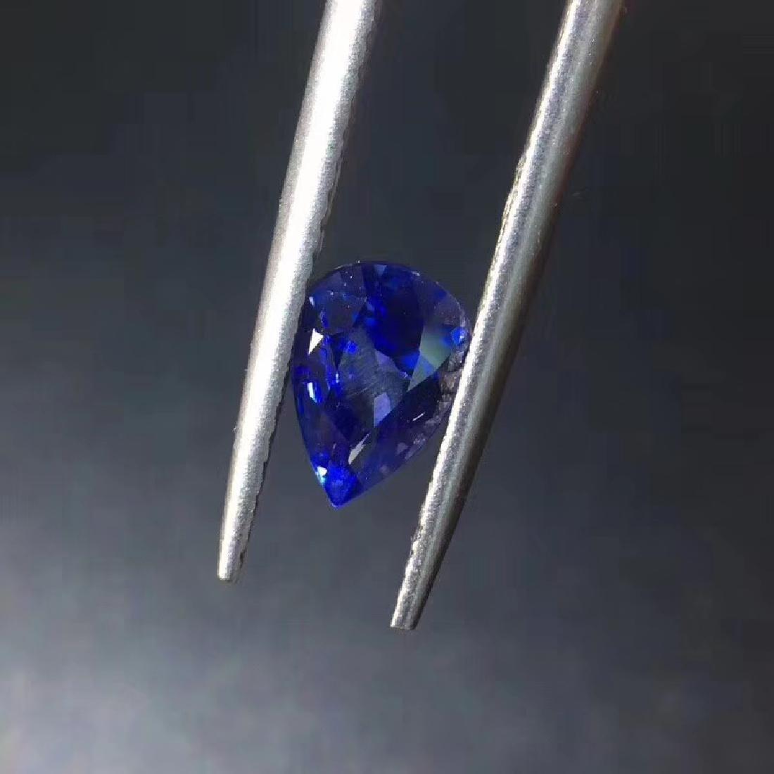 0.99 ct Sapphire 5.2*7.2*3.5 mm Pear Cut - 4