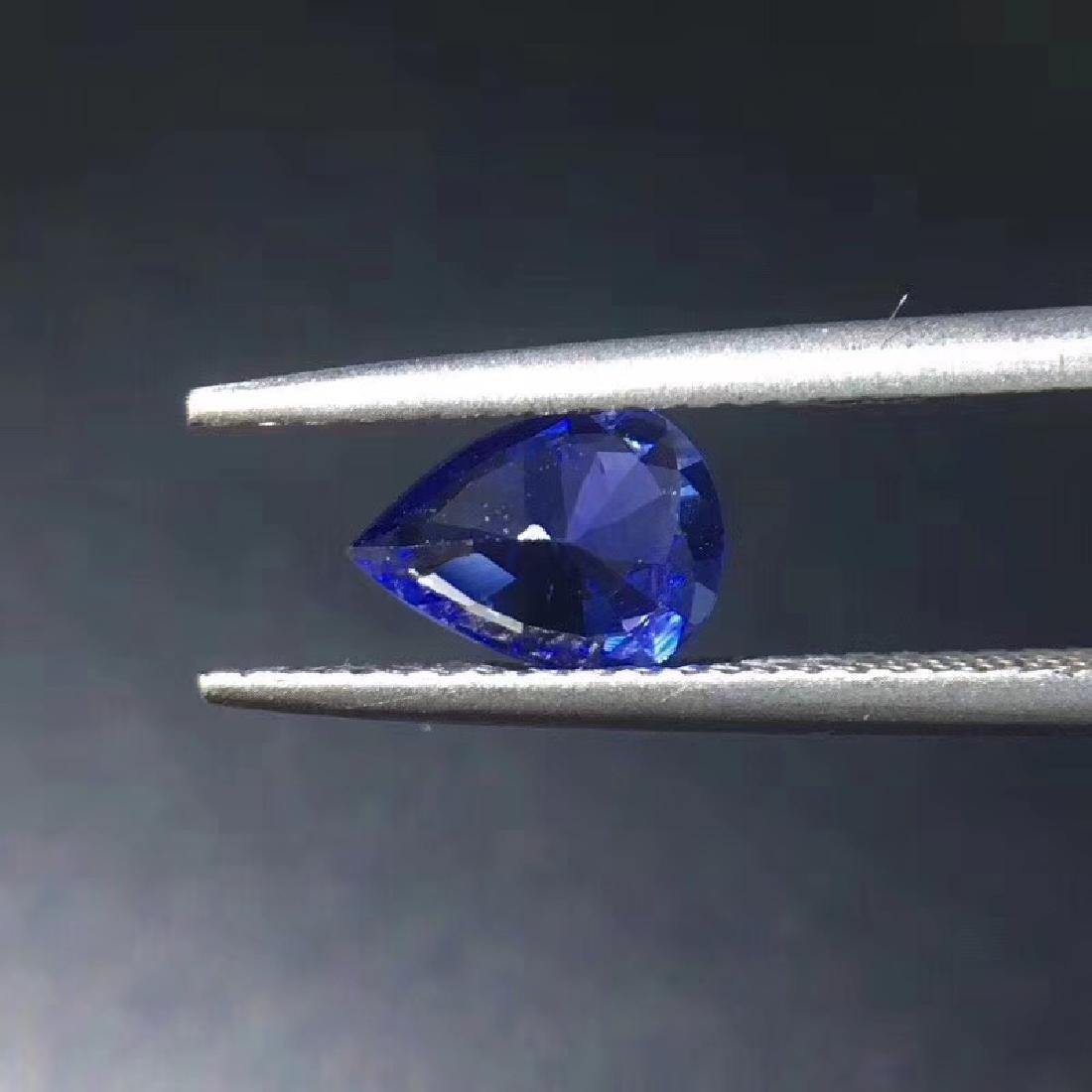 0.99 ct Sapphire 5.2*7.2*3.5 mm Pear Cut - 5