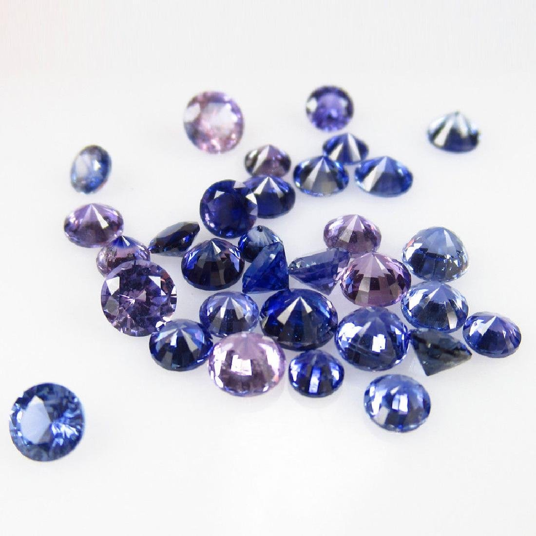 4.72 Ct Genuine 32 Loose Unheated Blue Sapphire Round - 2