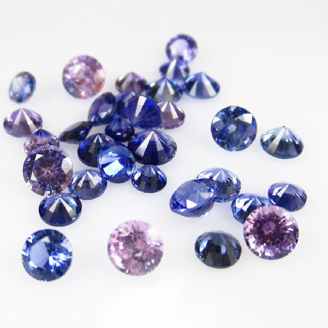 4.72 Ct Genuine 32 Loose Unheated Blue Sapphire Round - 4