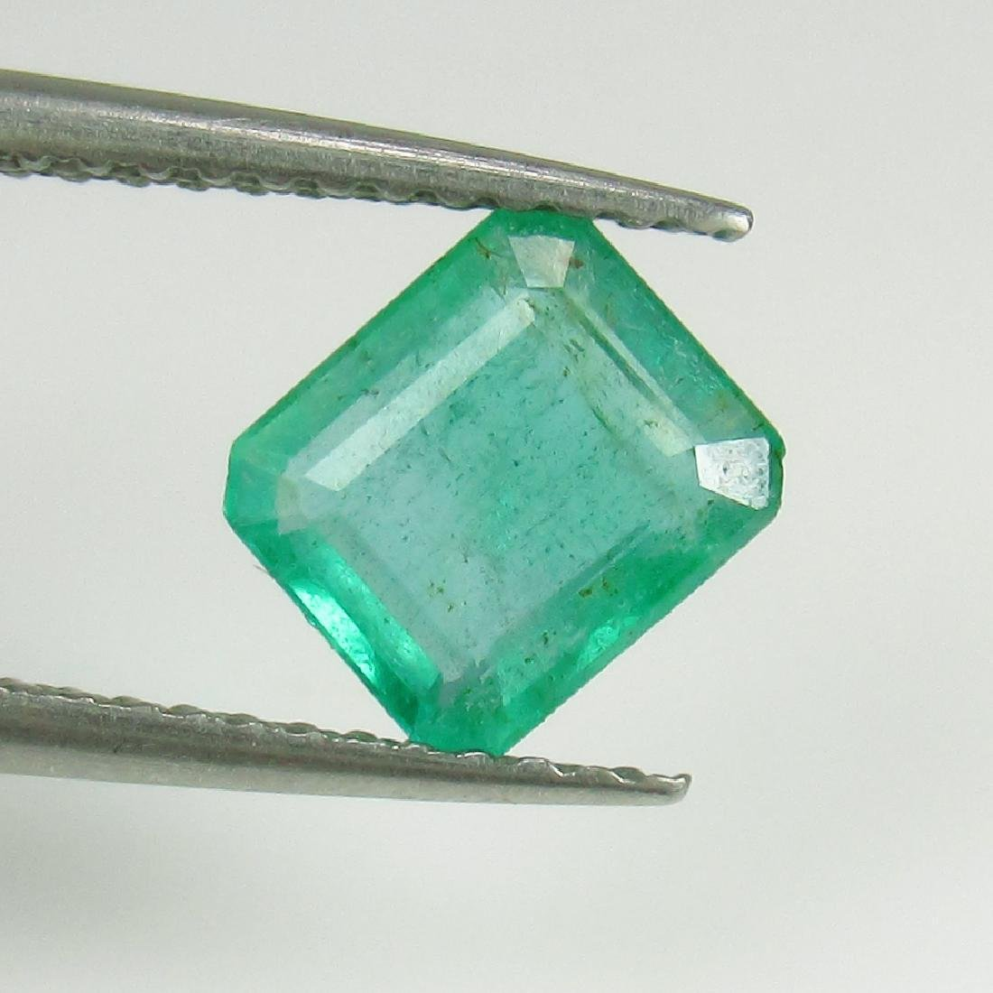 IGI Certified 1.11 Ct Genuine Zambian Emerald Good