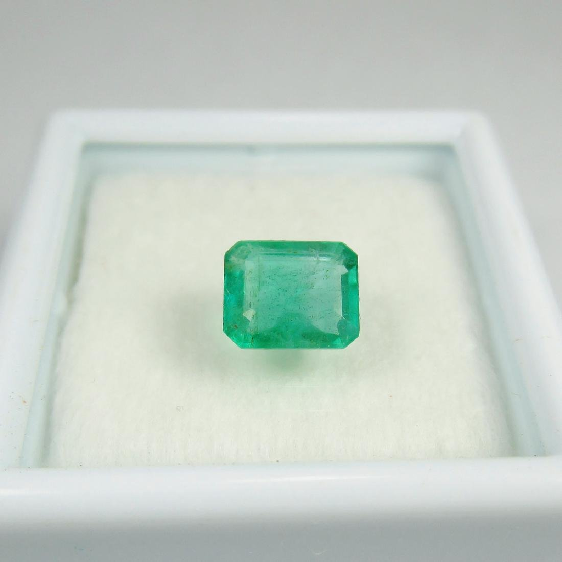 IGI Certified 1.11 Ct Genuine Zambian Emerald Good - 2