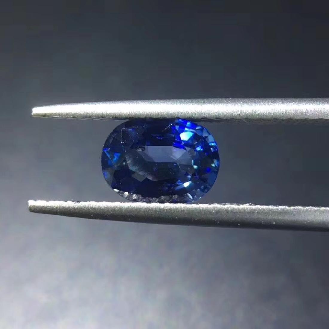 1.38 ct Sapphire 5.5*7.4*3.5 mm Oval Cut