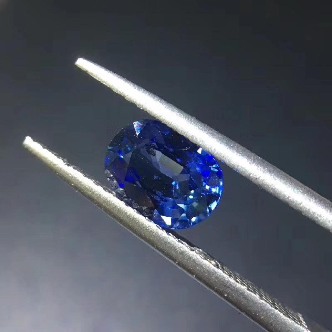 1.38 ct Sapphire 5.5*7.4*3.5 mm Oval Cut - 2