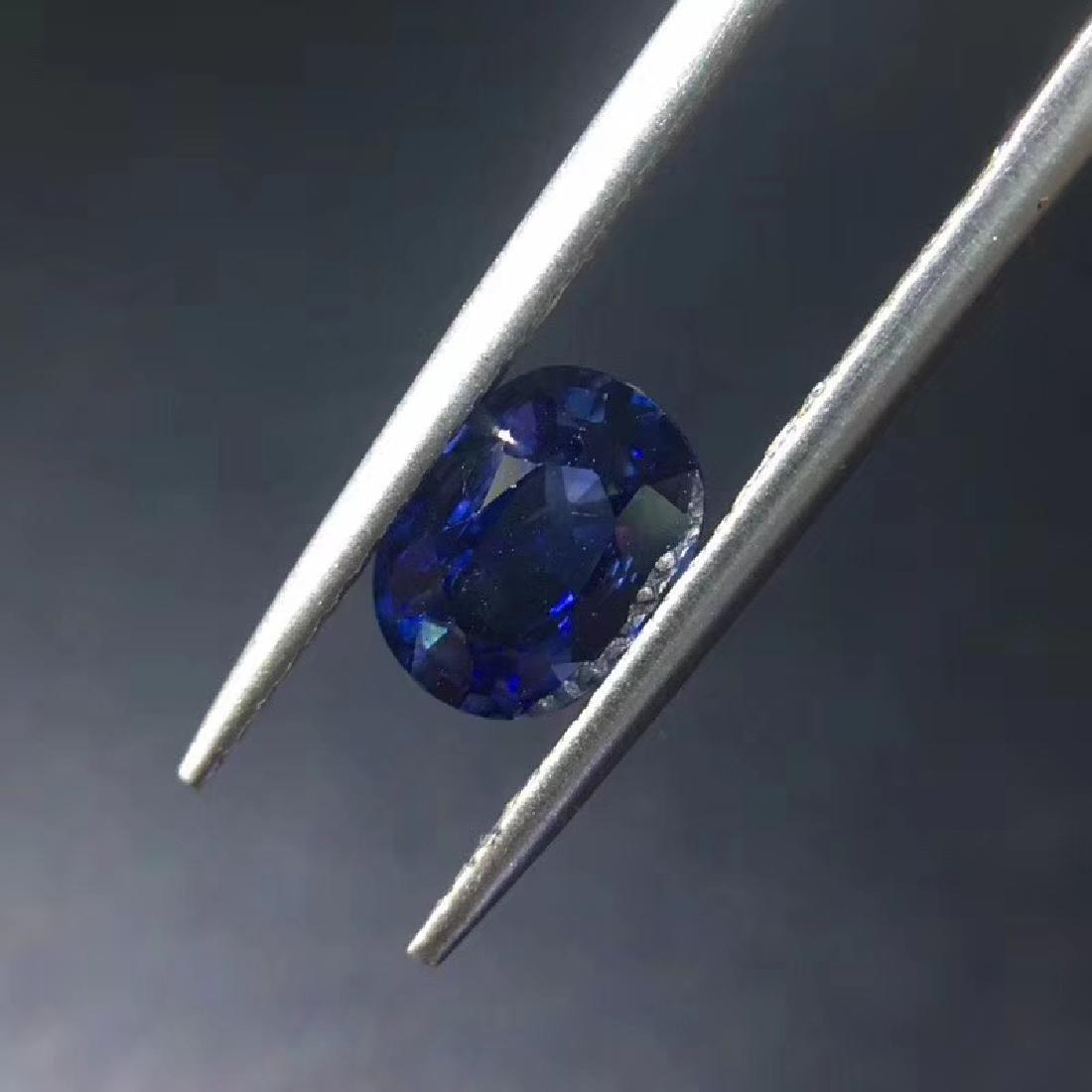 1.38 ct Sapphire 5.5*7.4*3.5 mm Oval Cut - 3