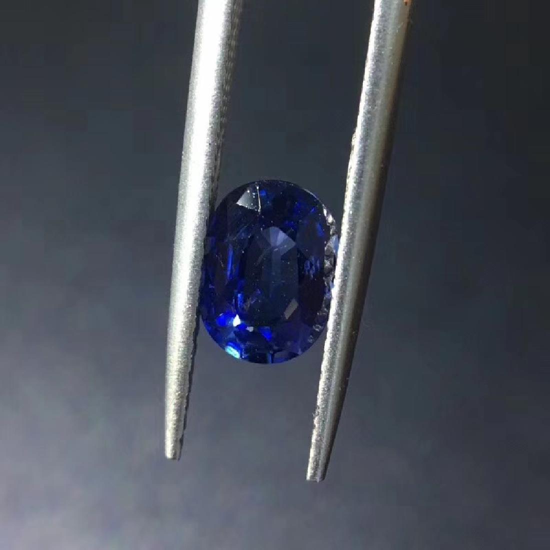 1.38 ct Sapphire 5.5*7.4*3.5 mm Oval Cut - 4