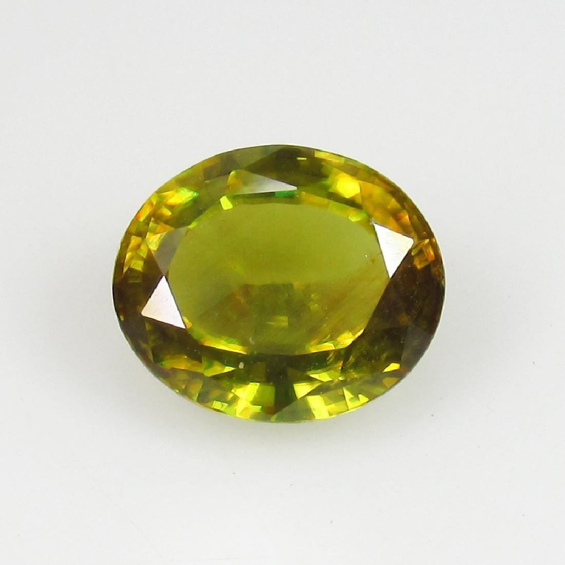 2.08 Ct IGI Certified Genuine Burma Yellowish Green