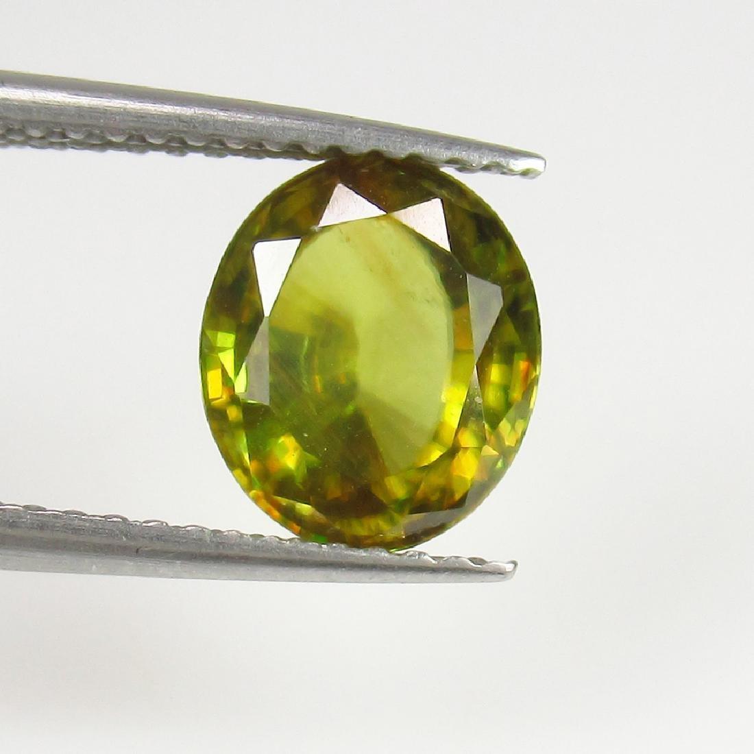 2.08 Ct IGI Certified Genuine Burma Yellowish Green - 3