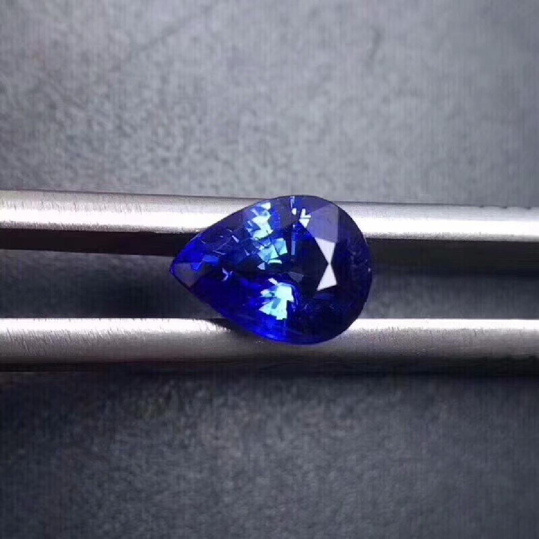 1.40 ct Sapphire 3.7*7.8*5.9 mm Pear Cut