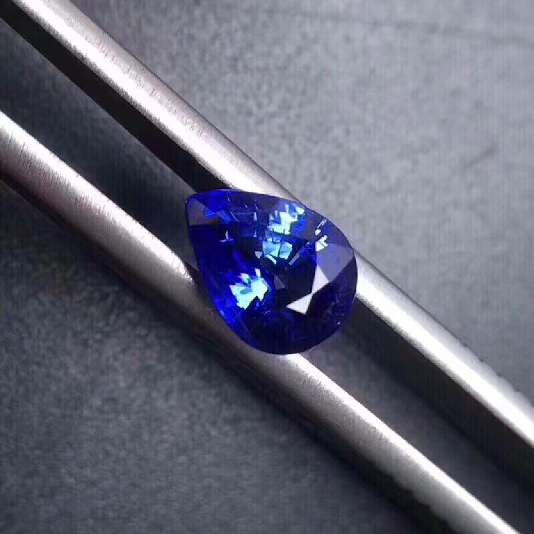 1.40 ct Sapphire 3.7*7.8*5.9 mm Pear Cut - 2