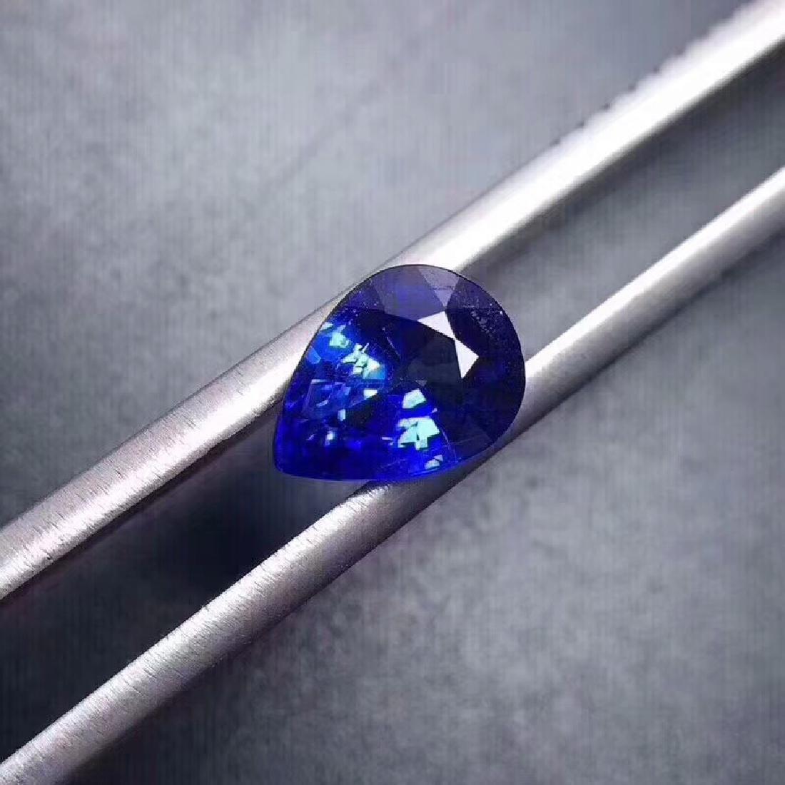 1.40 ct Sapphire 3.7*7.8*5.9 mm Pear Cut - 3