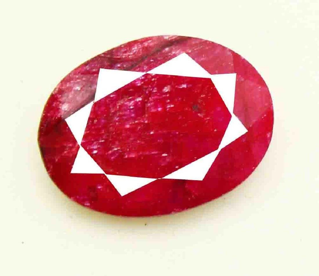 7.10 CT Natural African Red Ruby EGL Certified - 3