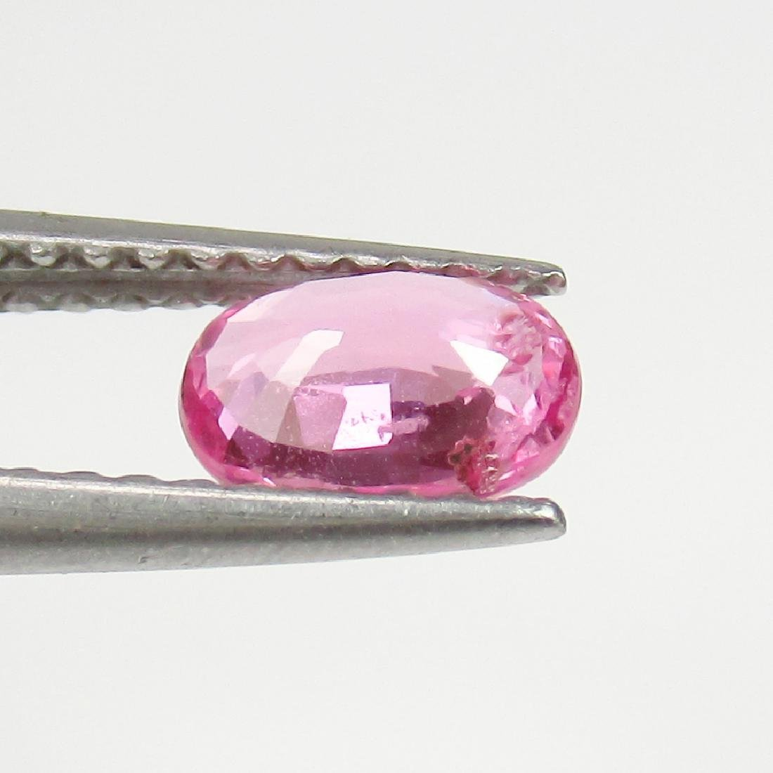 0.63 Ct Genuine IGI Certified Mozambique Pinkish Red - 3