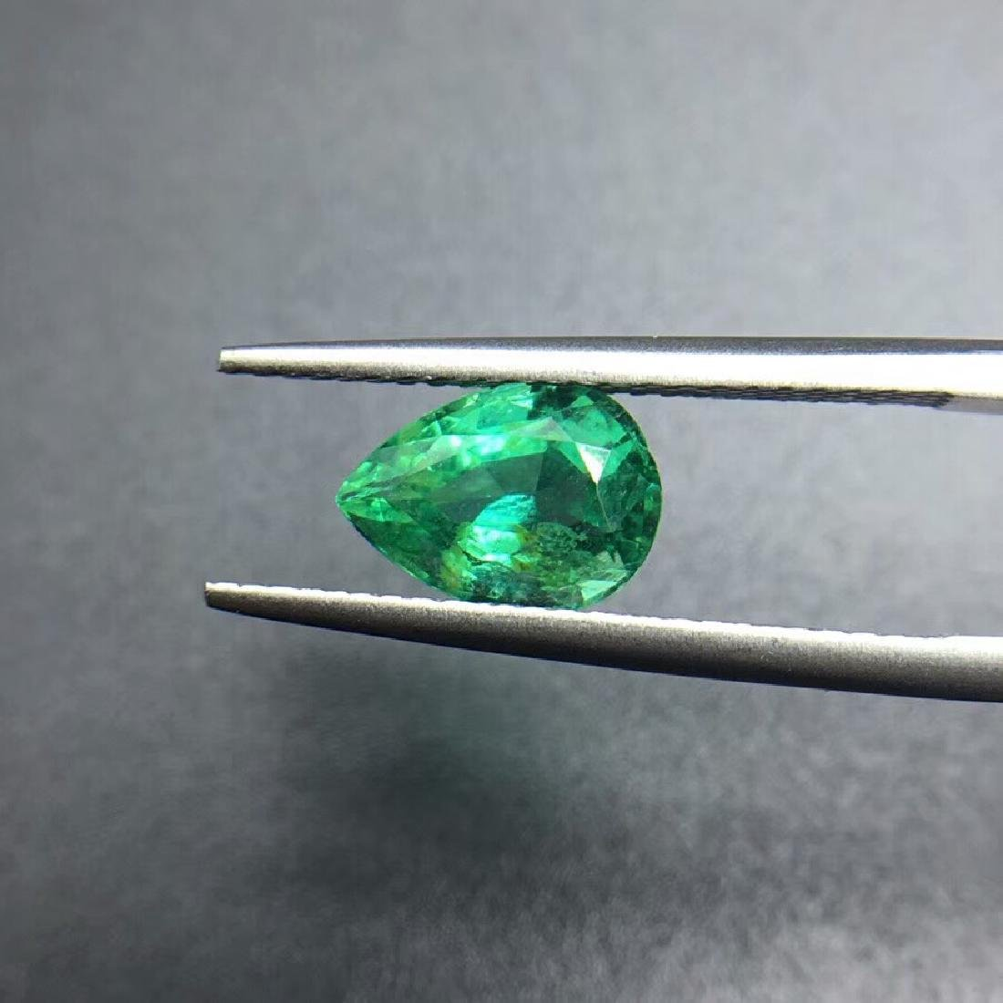 1.43 ct Emerald 6.2*8.9*4.7 mm Pear Cut
