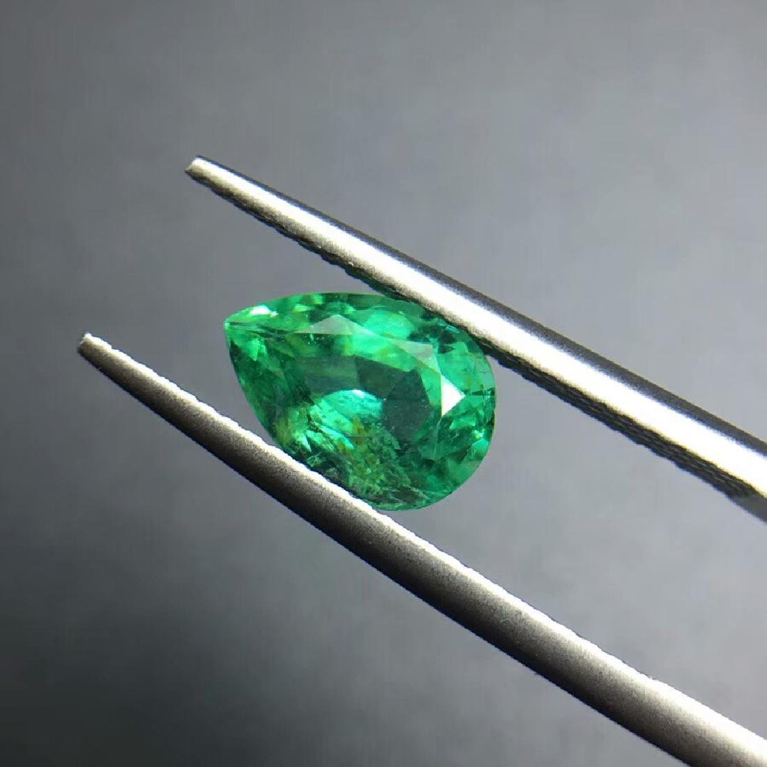1.43 ct Emerald 6.2*8.9*4.7 mm Pear Cut - 2