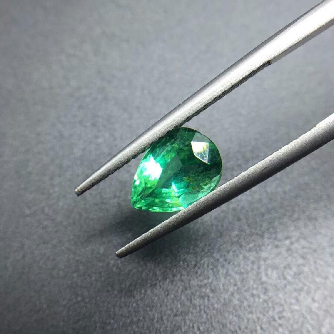 1.43 ct Emerald 6.2*8.9*4.7 mm Pear Cut - 3