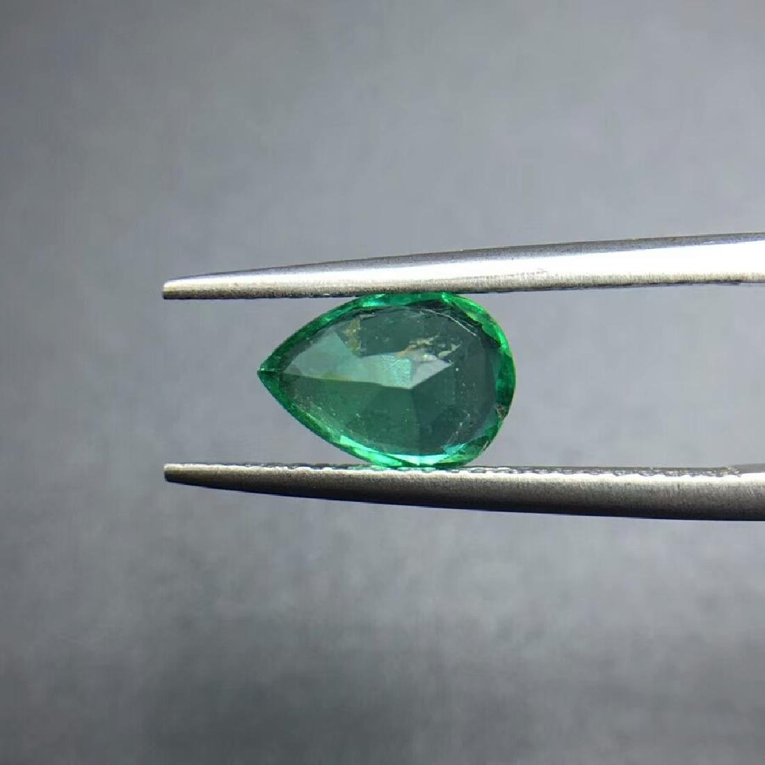 1.43 ct Emerald 6.2*8.9*4.7 mm Pear Cut - 4