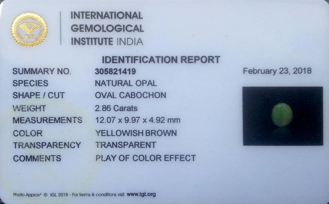IGI Certified 2.86 Ct - Natural Loose Ethiopian - 3
