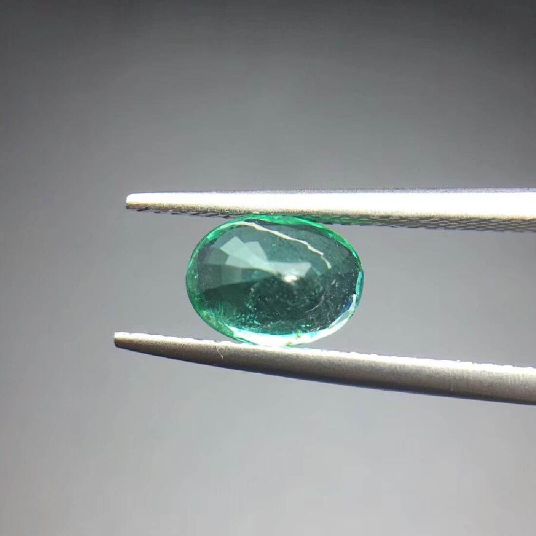 1.21ct Emerald 5.7*7.8*4.2 mm Oval Cut - 4