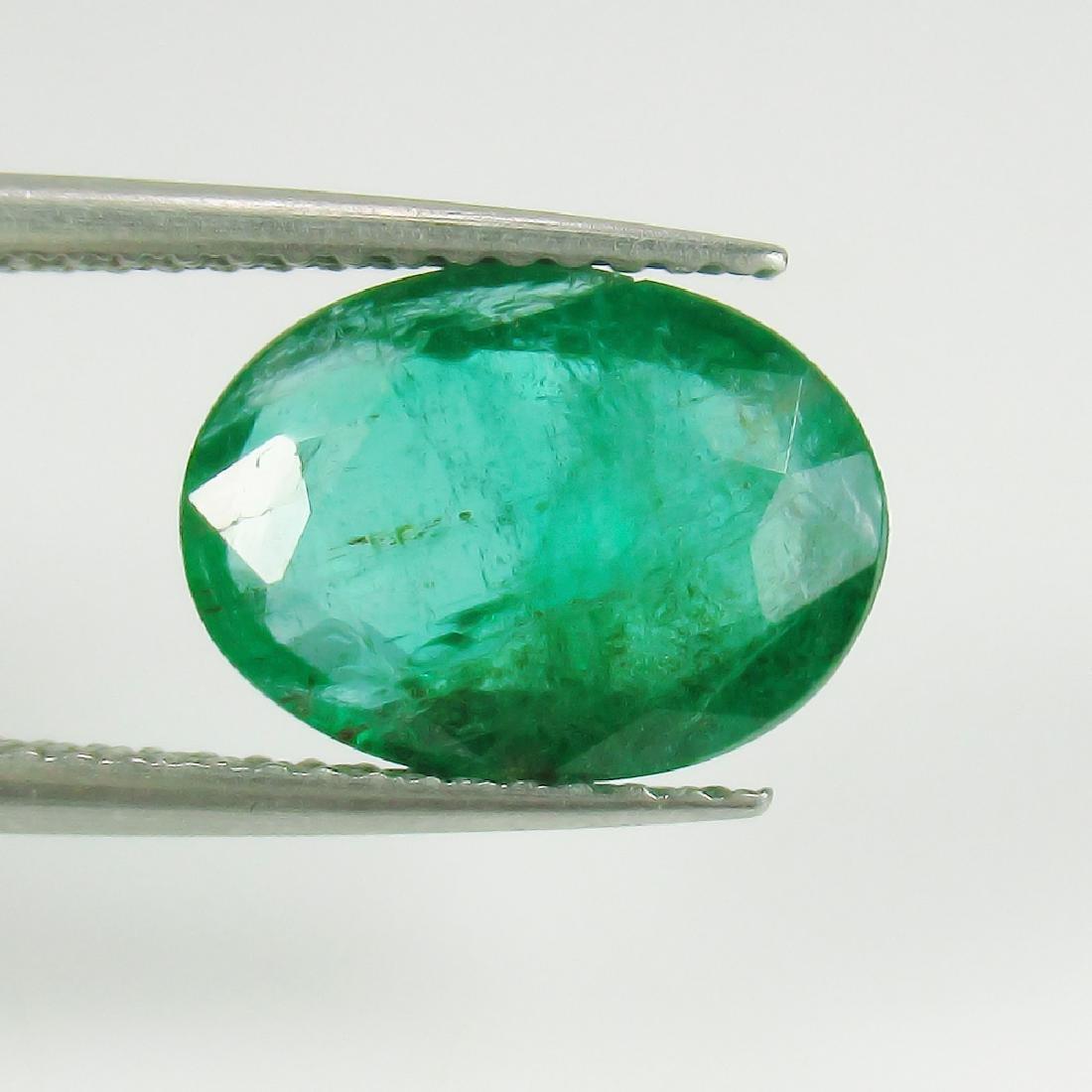 2.75 Ct IGI Certified Genuine Zambian Emerald Top Green