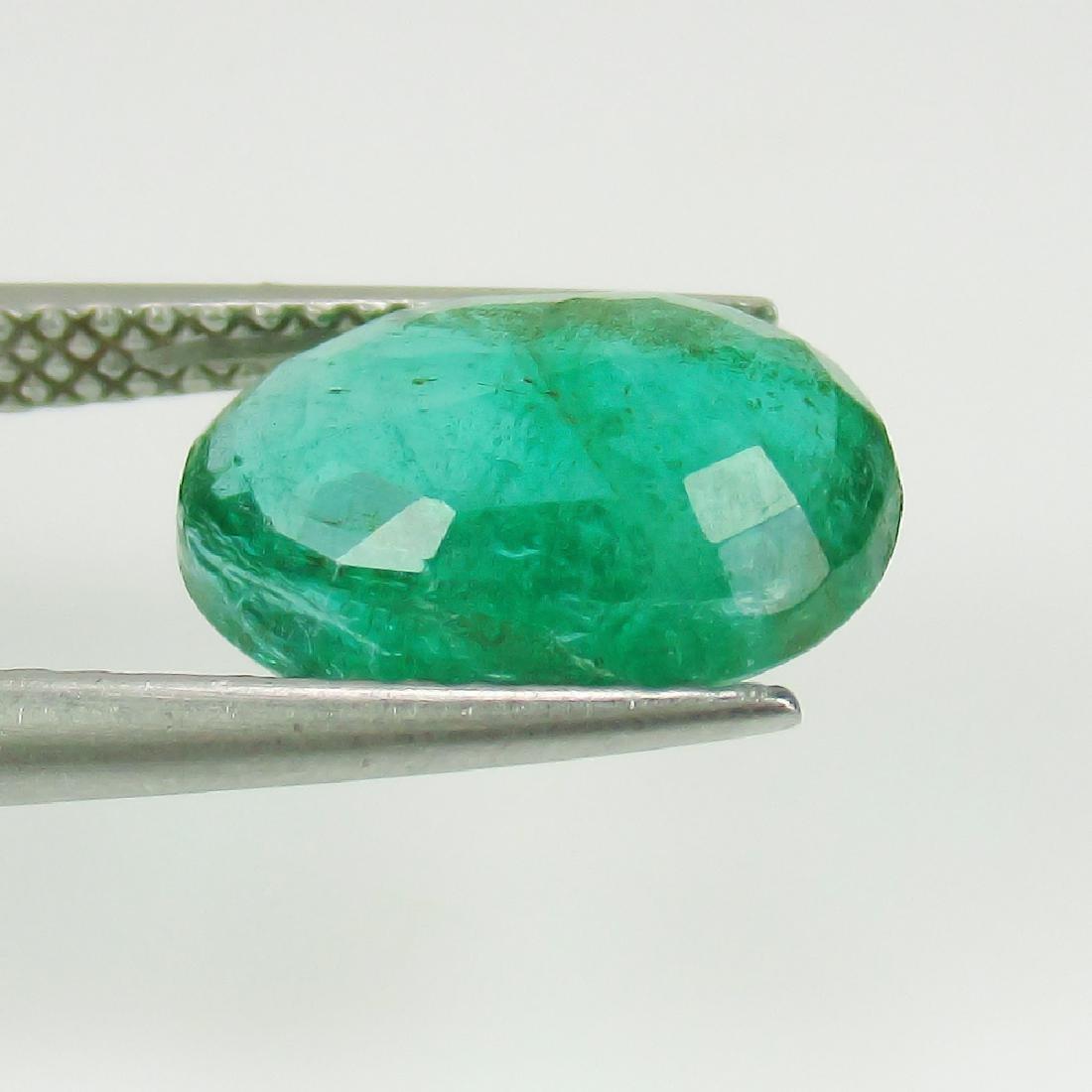 2.75 Ct IGI Certified Genuine Zambian Emerald Top Green - 3