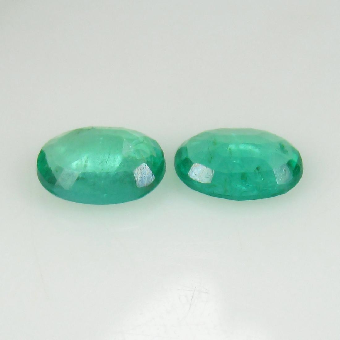 1.35 Ct IGI Certified Genuine Zambian Emerald Matching - 2
