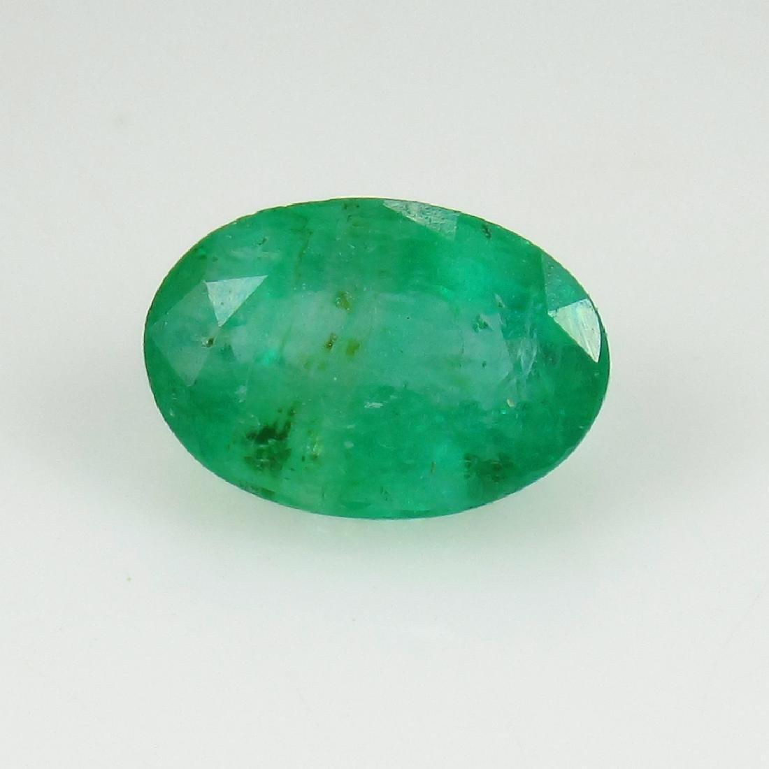 2.06 Ct IGI Certified Genuine Zambian Emerald Nice Oval