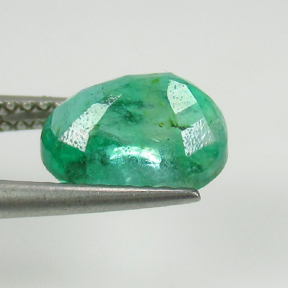 2.06 Ct IGI Certified Genuine Zambian Emerald Nice Oval - 3