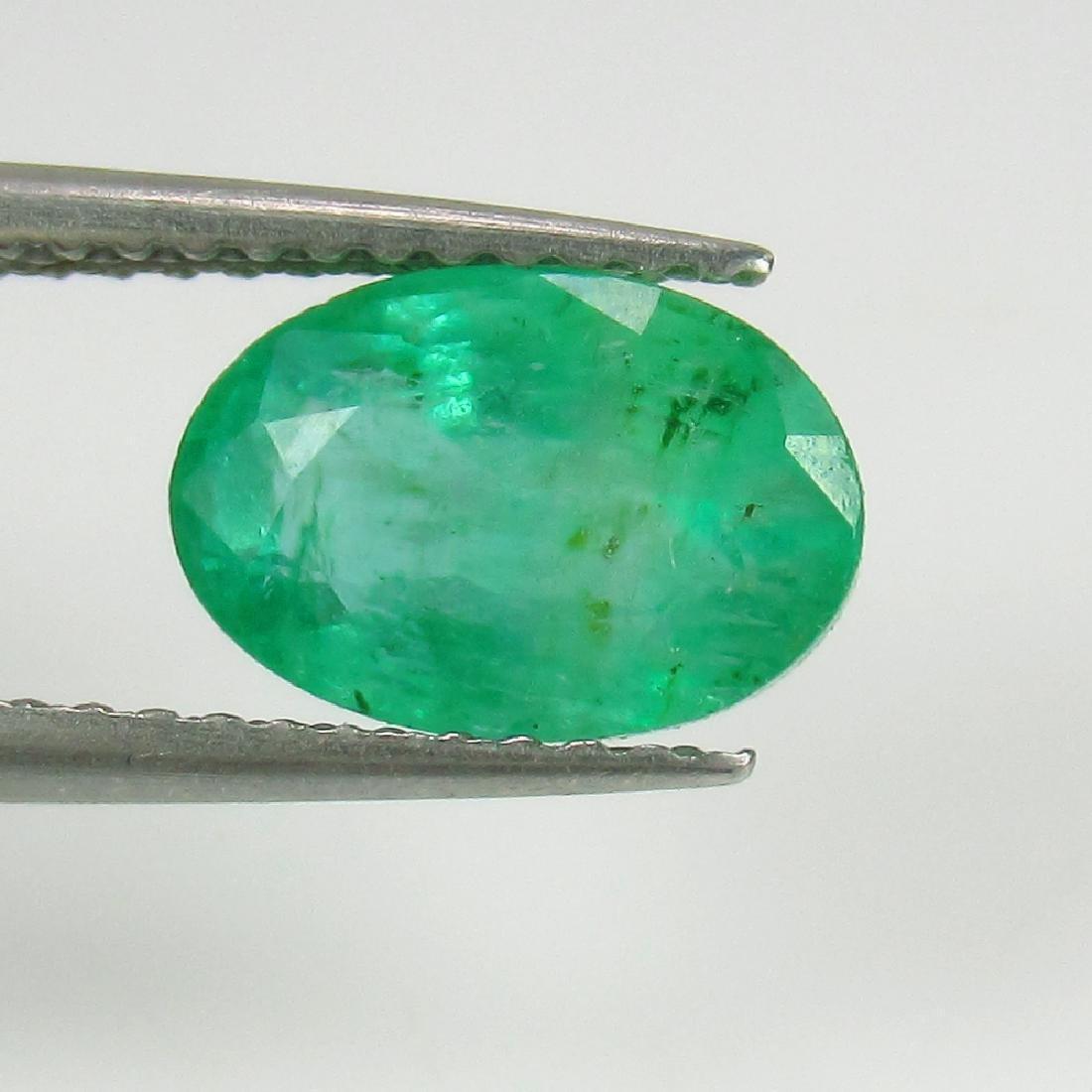 2.06 Ct IGI Certified Genuine Zambian Emerald Nice Oval - 4
