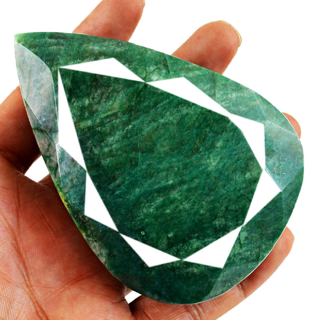 Pear Shape Emerald Gem - 2