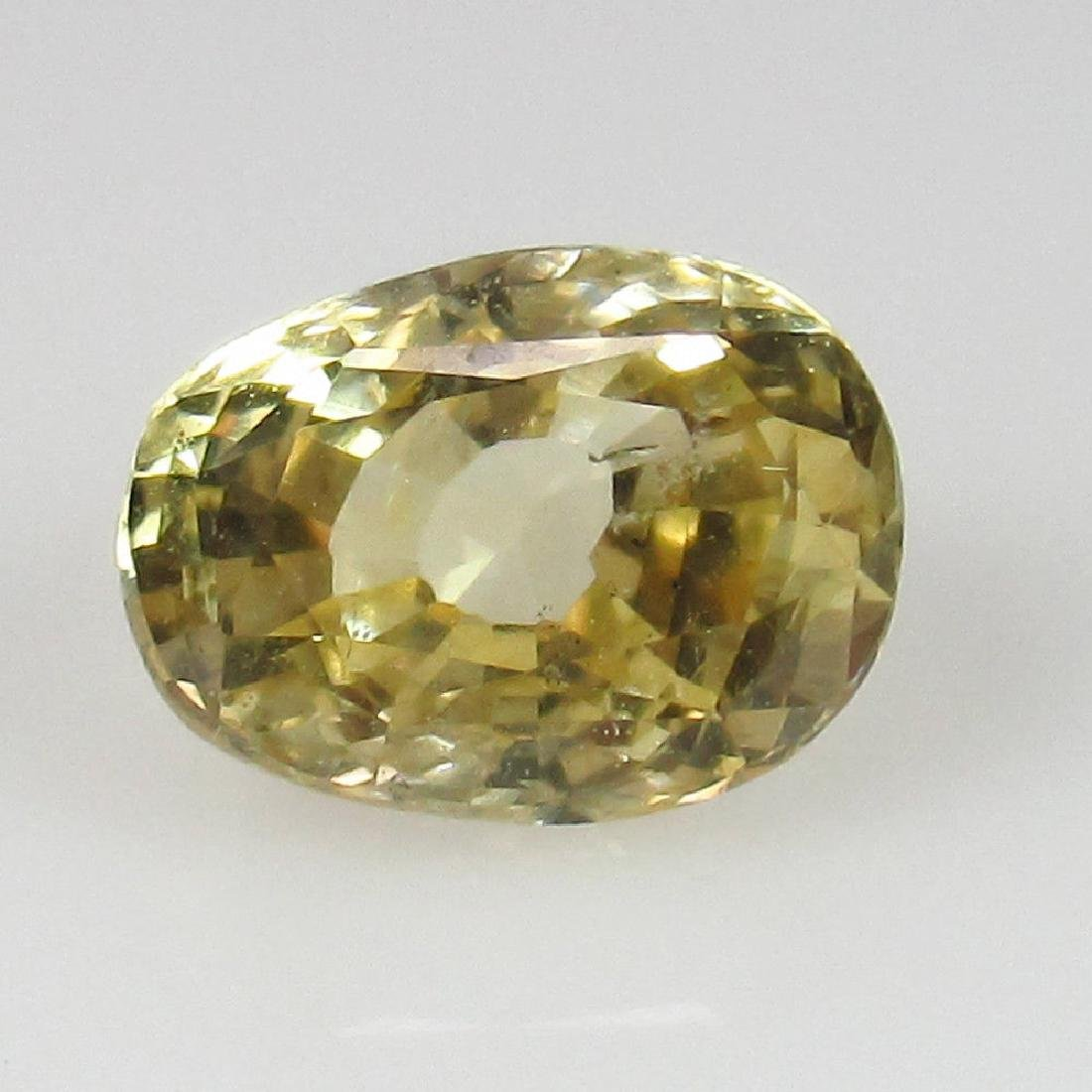 1.69 Ctw Natural Unheated Yellow Sapphire