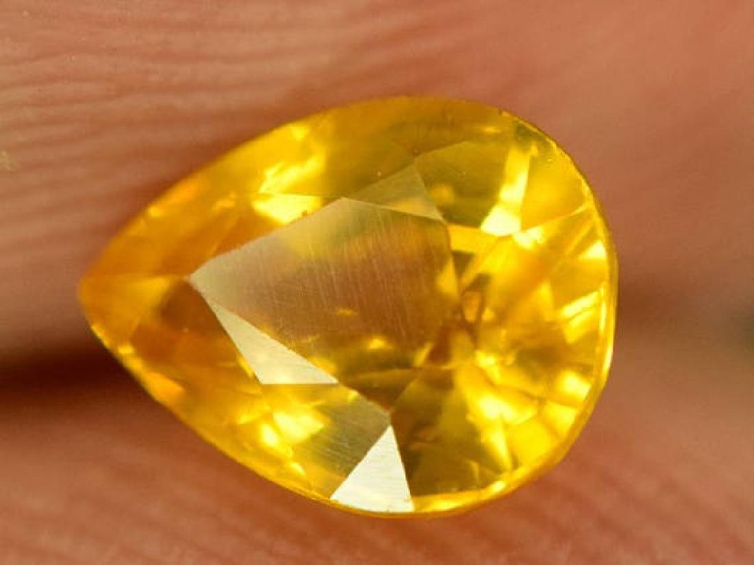 0.85 carats Very Beautiful Yellow Sapphire Loose - 3