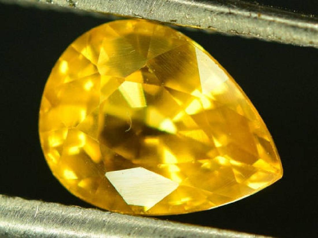 0.85 carats Very Beautiful Yellow Sapphire Loose - 4