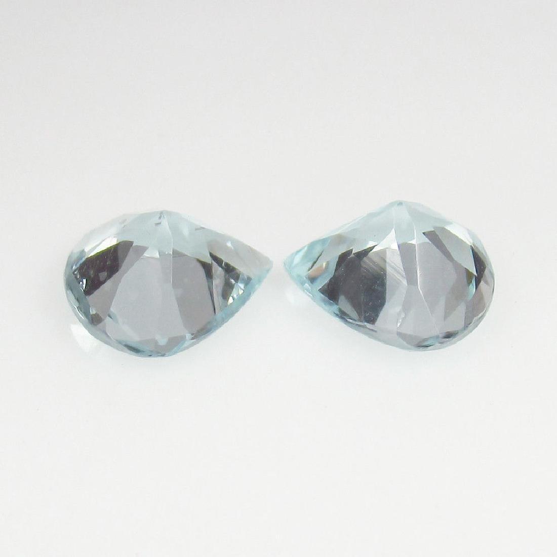 2.46 Ctw Natural Loose Matching Heart cut Aquamarine - 2