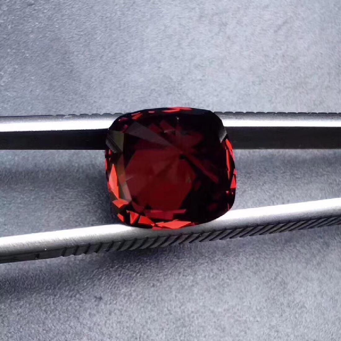 9.45 ct Garnet 11.3*12.0 mm Cushion Cut - 3
