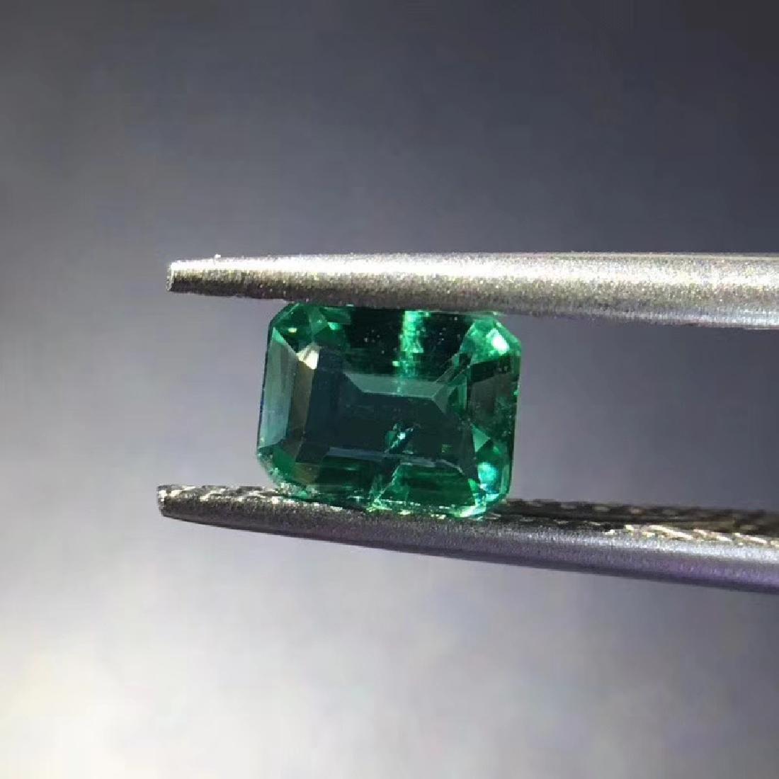0.74 ct Emerald 5.8*4.5*3.4 mm square Cut