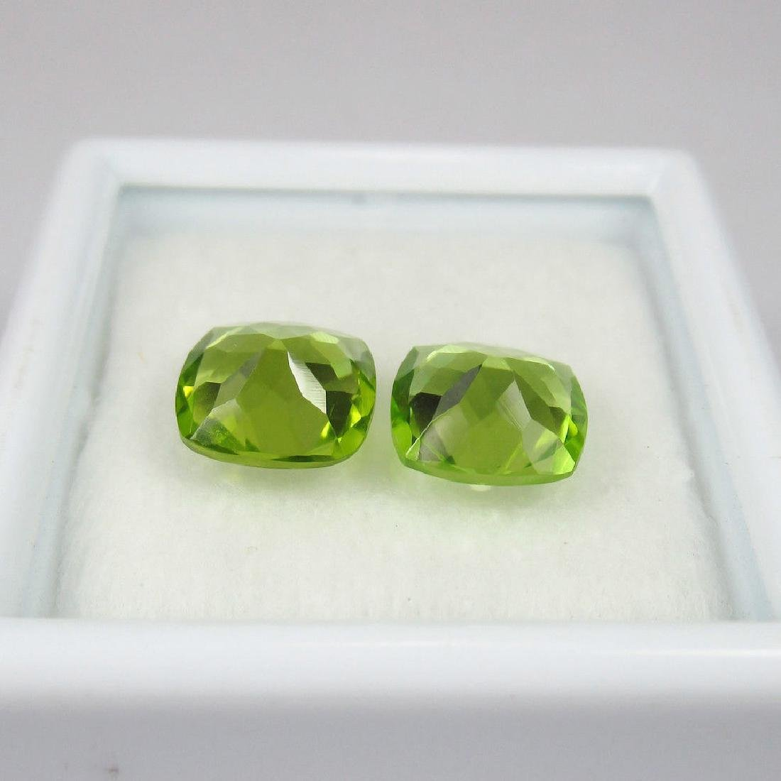 2.62 Ctw Natural Loose Cushion cut Top Luster Peridot - 2