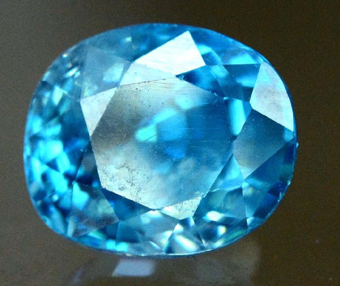 2.40 carats Blue Zircon Loose Gemstone from Cambodia -