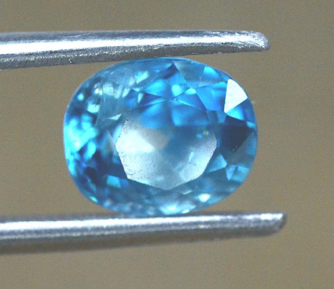 2.40 carats Blue Zircon Loose Gemstone from Cambodia - - 2