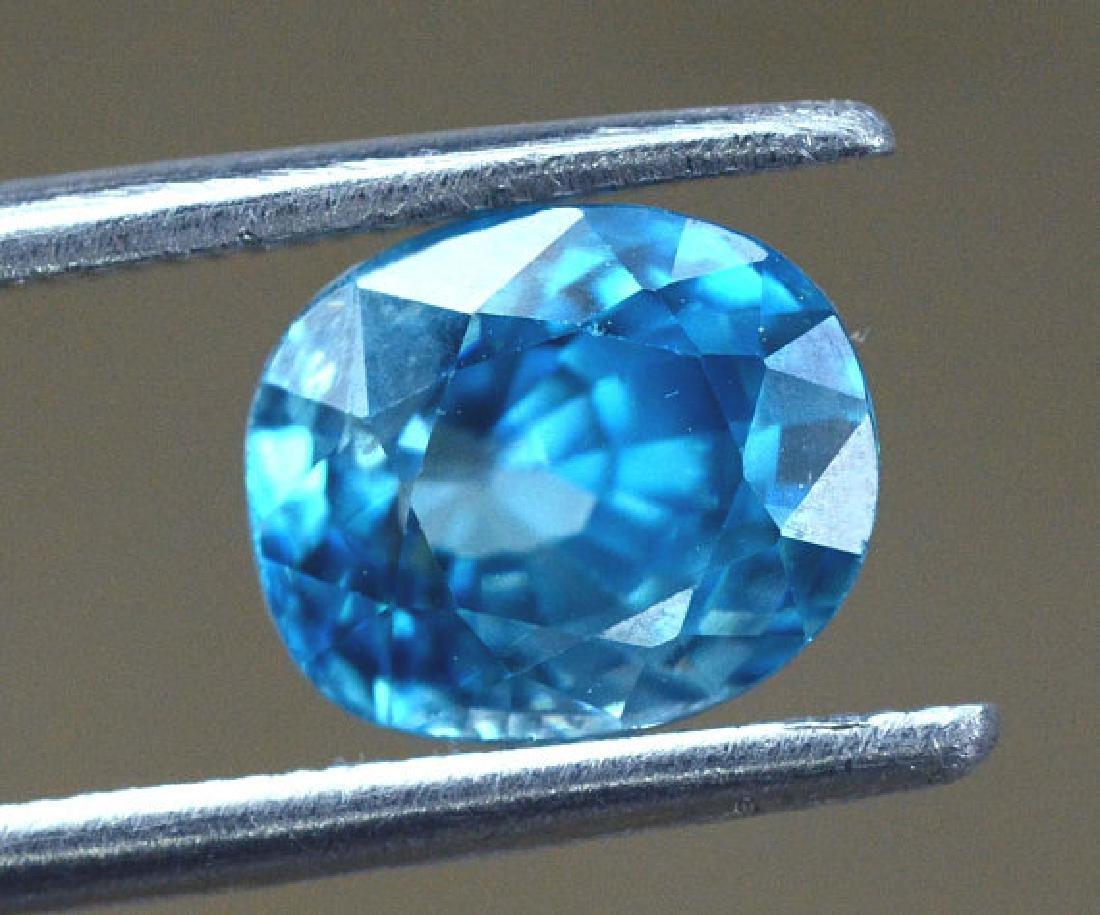 2.40 carats Blue Zircon Loose Gemstone from Cambodia - - 3