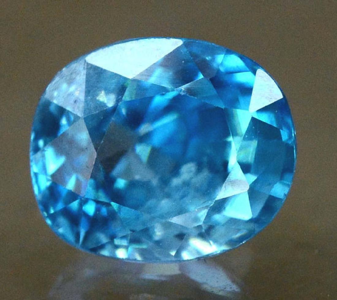 2.40 carats Blue Zircon Loose Gemstone from Cambodia - - 4