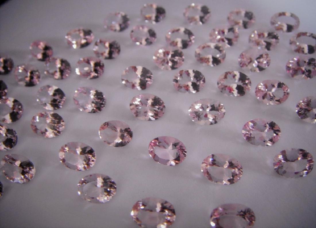 Morganite 6x8 ovals 47pcs-47.06 ct