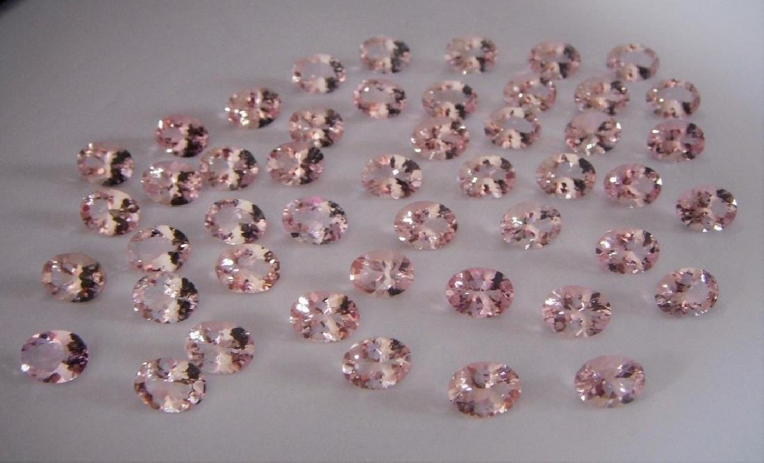 Morganite 6x8 ovals 47pcs-47.06 ct - 4