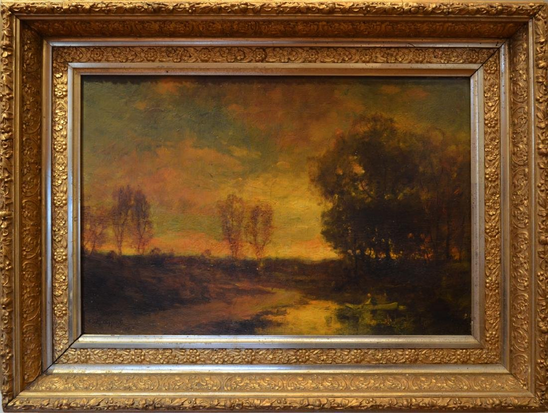 Charles Appel Oil Painting Tonalist Sunset