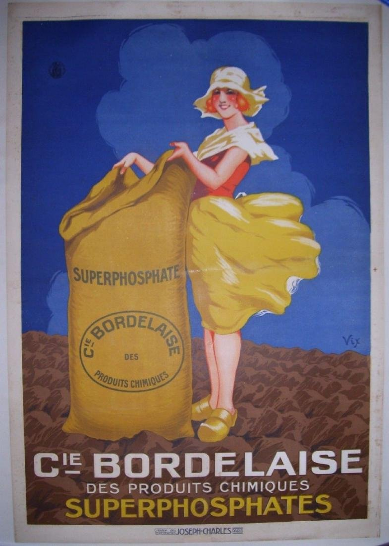 CIE Bordelaise Vintage French Art Deco Poster