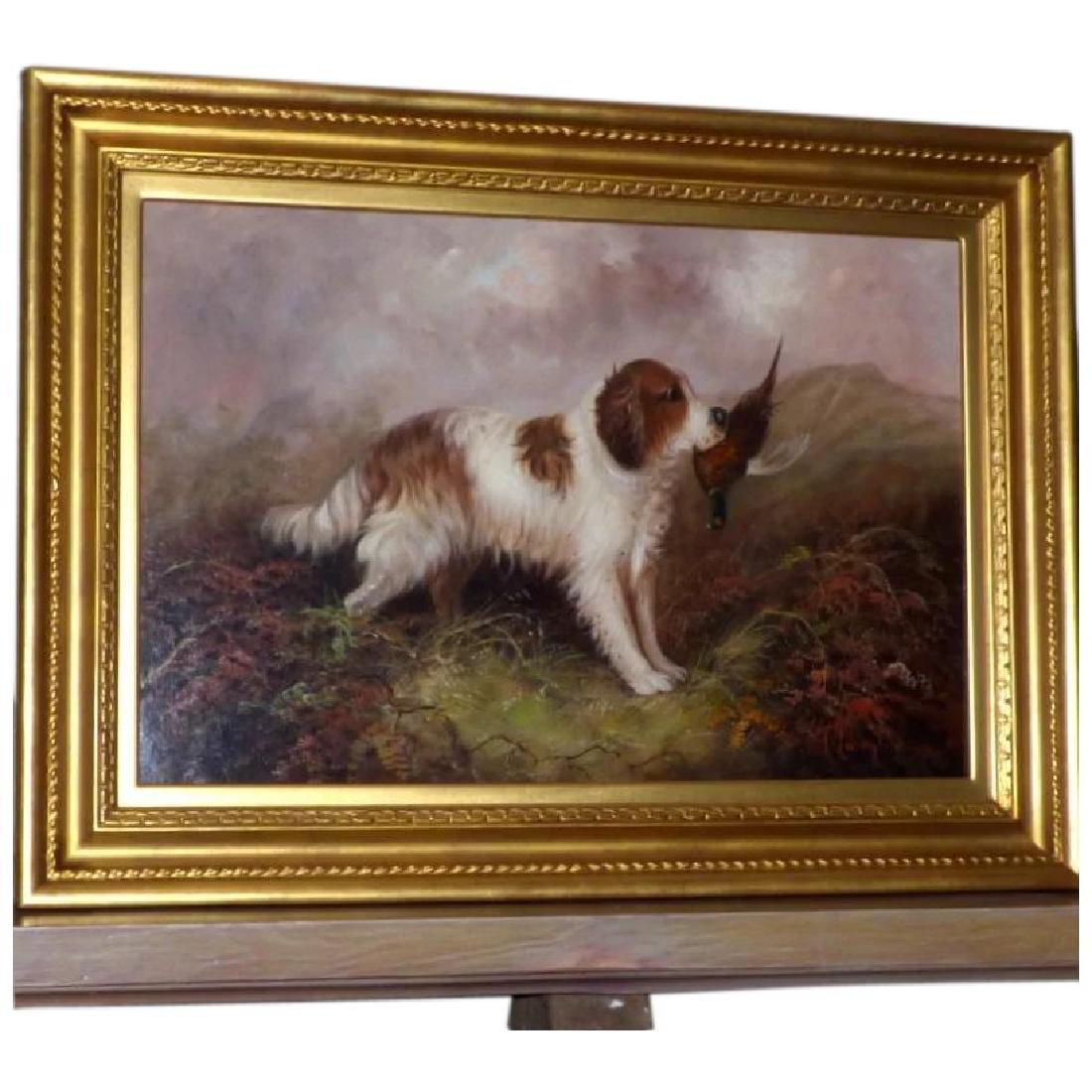 Antique Portrait of a Spaniel, by J. Langlois